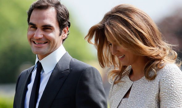 Roger Federer and his wife at Pippa Middletons wedding Image GETTY