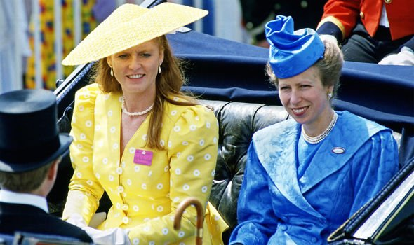 Sarah Ferguson and Princess Anne in Image Getty