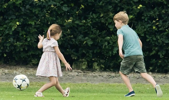 She played football with brother Prince George Image GETTY