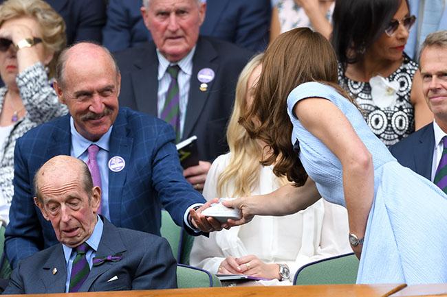 Stan Smith gifts Duchess Kate tiny tennis shoes for Prince Louis Photo C GETTY IMAGES