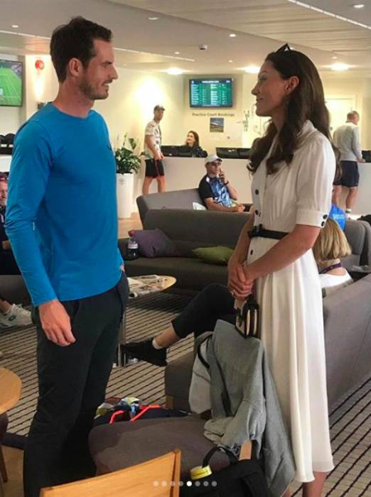 The Duchess of Cambridge chatted with Andy Murray at Wimbledon Photo C Getty Images