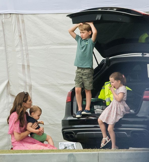 The Duchess of Cambridge stepped out with her three children for the family day out Image GETTY