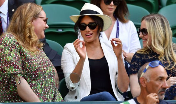 The Duchess of Sussex came under fire at Winbledon last week Image Getty