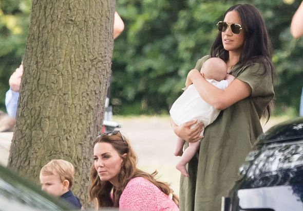 The Duchess of Sussex made a surprise appearance with Archie days after his christening Image GETTY
