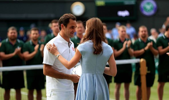 The Duke and Duchess of Cambridge arrive for the mens final of Wimbledon Image PA