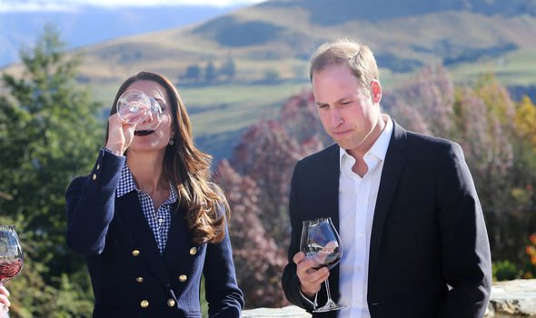 The Duke and Duchess of Cambridge on tour in New Zealand Image GETTY