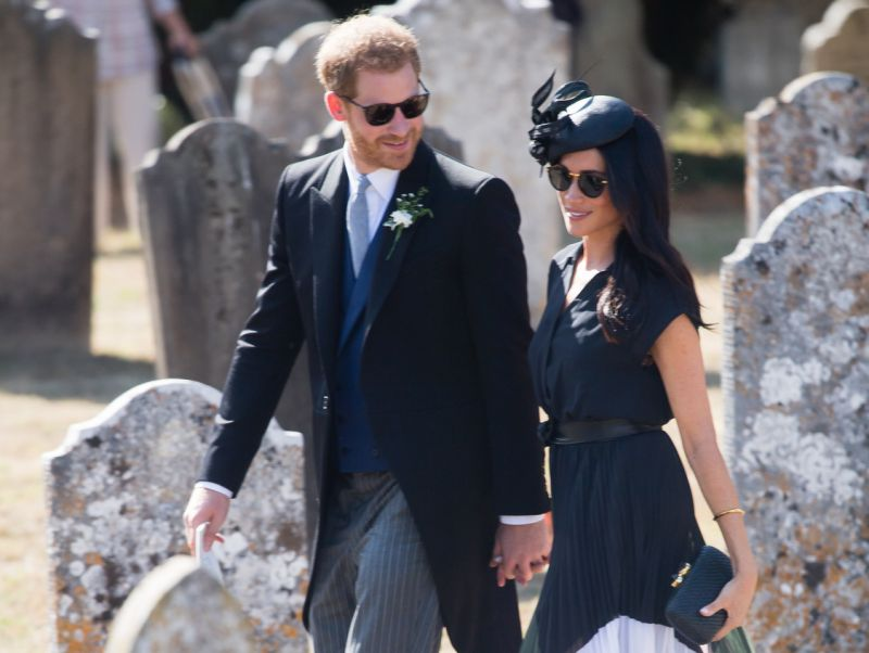 The Duke and Duchess of Sussex attended his wedding to Daisy Jenks last year Image Getty