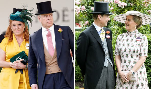 The Duke and Duchess of York and the Earl and Countess of Wessex at this months Royal Ascot Image Getty