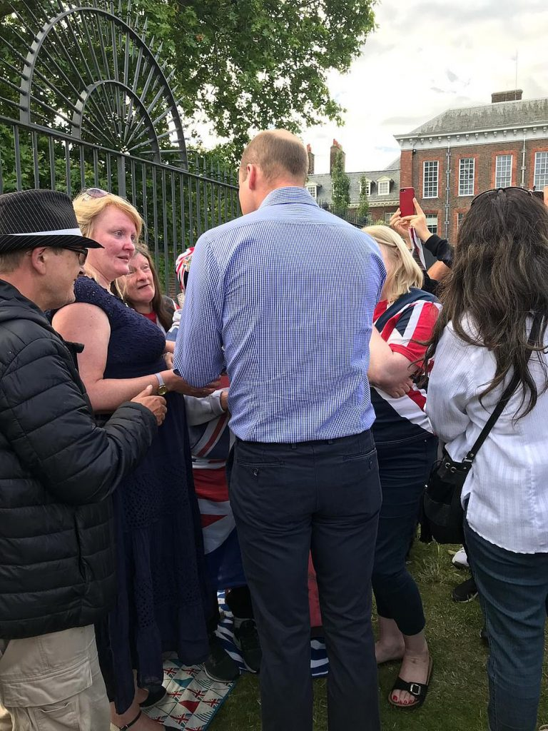 The Duke of Cambridge thanked the small group of fans for making the effort to remember his mother on what would have been her th birthday