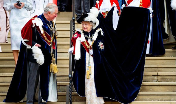 The Queen and Prince Charles at Garter Day last June Image GETTY