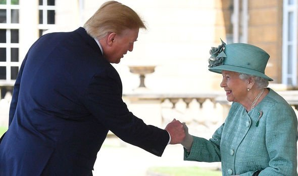 The Queen and US President Donald Trump Image GETTY
