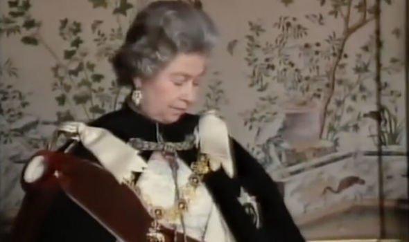 The Queen is getting her portrait taken Image BBC