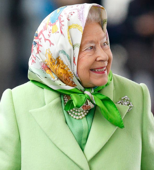 The Queen is wearing vibrant clothes so big crowds can recognise her Image GETTY