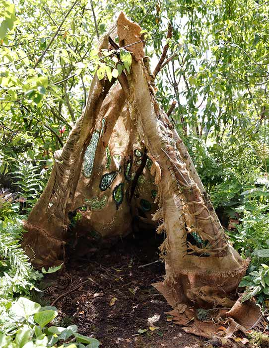The RSN created a hand embroidered net for the den in Kates Back to Nature garden Photo C GETTY IMAGES