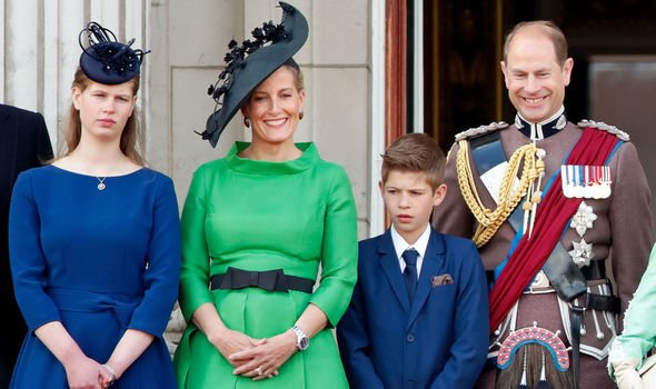 The Wessex family at this years Trooping the Colour Image Getty