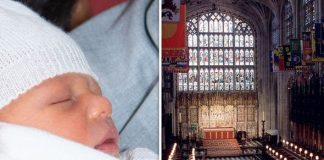 The location of Archies christening was destroyed by a fire Image GETTY