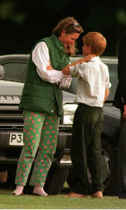 Tiggy with a young Harry Tiggy with a young Harry photo C GETTY IMAGES