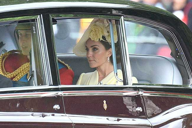 William and Kate arrive at the palace Photo C GETTY IMAGES