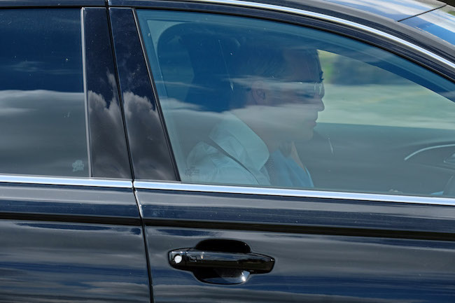 William and Kate were spotted arriving at the private service on Saturday Photo C GETTY IMAGES