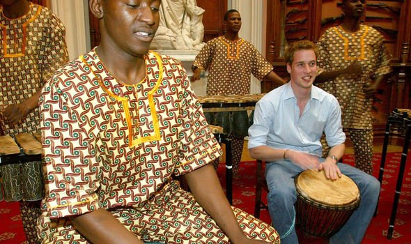 William chose an 'Out of Africa' theme for his party Image GETTY