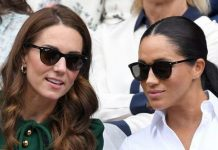 cropped Meghan Markle and Kate Middleton have faced undue pressure to be friends a royal insider claimed Image GETTY