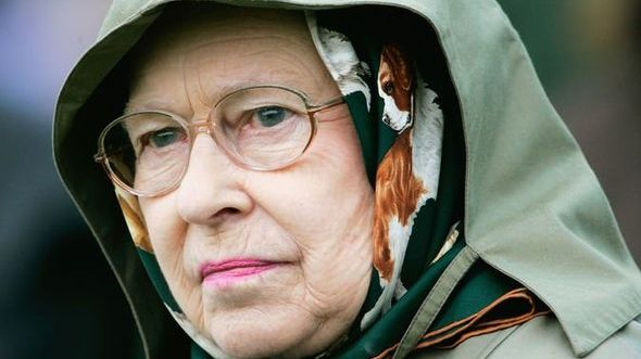 cropped Queen Elizabeth admitted she was pouring with tears at Epsom Derby Image GETTY