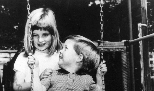 A six year old Diana with her brother Image GETTY