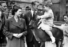 A young Prince Charles with the Queen Prince Philip and King George VI Image Instagram ClarenceHouse