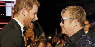 APBritains Prince Harry greets Elton John after the Royal Variety Performance at the Albert Hall in London in