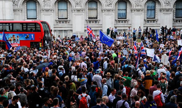 Brexit news Protesters have been urged to block streets Image GETTY