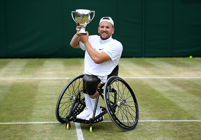 Dylan pictured following his win at Wimbledon Photo C GETTY IMAGES