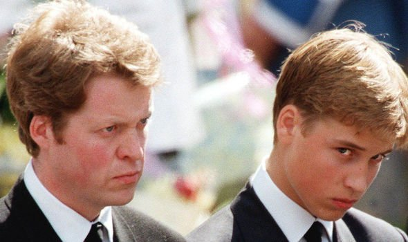 Earl Spencer and Prince William in Dianas funeral procession Image GETTY