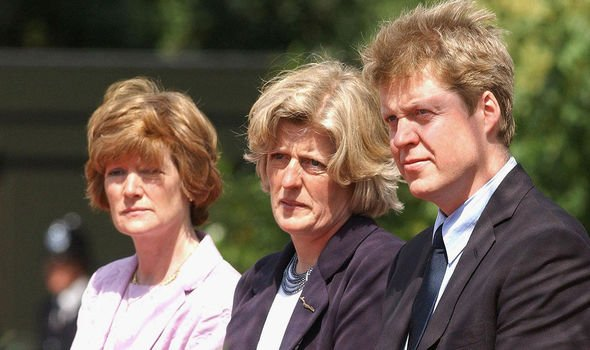 Earl Spencer with sisters Lady Sarah McCorquodale and Lady Jane Fellowes Image GETTY