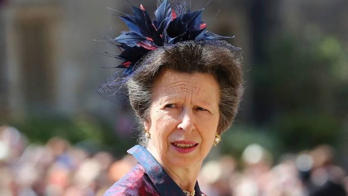 GARETH FULLER APPrincess Anne arrives at St Georges Chapel at Windsor Castle