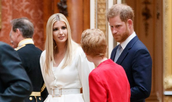 Ivanka Trump L daughter of US President Donald Trump and Britains Prince Harry Duke of Sussex Image GETTY