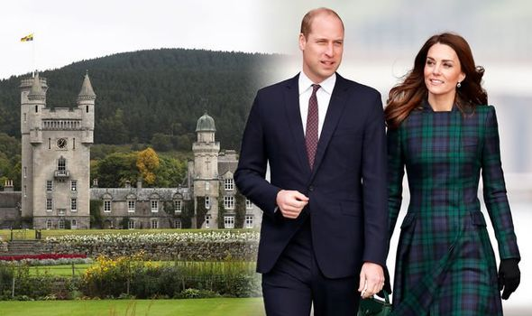 Kate Middleton The Duchess and William are thought to be visiting the Queen at Balmoral Castle Image GETTY