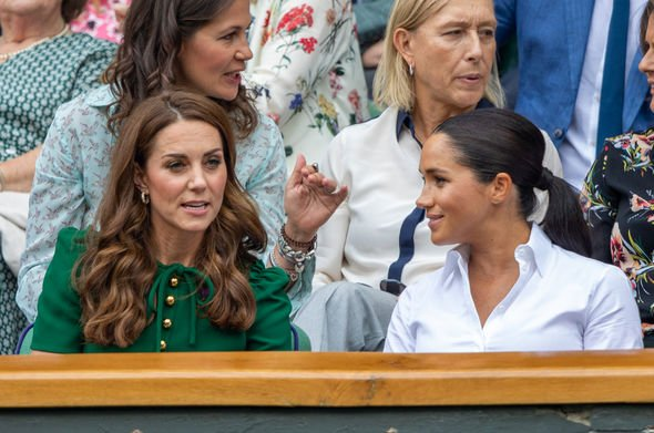 Kate Middleton and Meghan Markles relationship appears to have improved Image GETTY