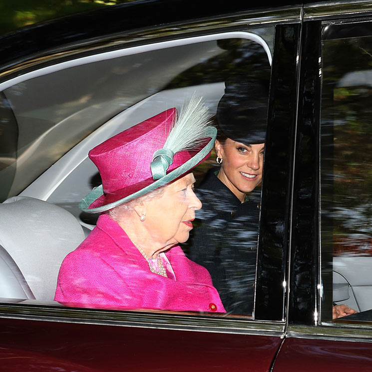 Kate Middleton and Prince William accompany the Queen to church ALL the pictures Photo C GETTY IMAGES