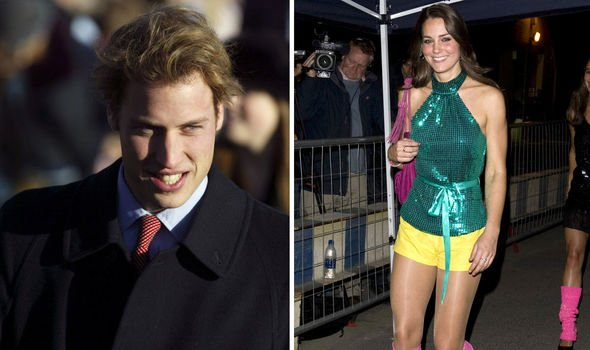 Kate Middleton and Prince William in the early days of their romance Image Getty
