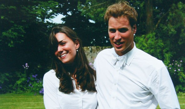 Kate Middleton and Prince William in their university days Image Getty