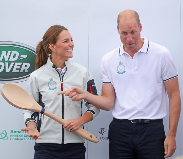 Kate Middleton news Kate Middleton presenting the Wooden Spoon much to Prince Williams amusement Image GETTY