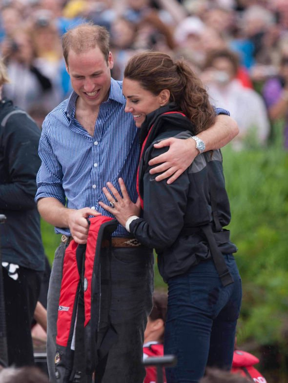 Kate Middleton news The Duke and Duchess of Cambridge in the boat race in Canada Image GETTY