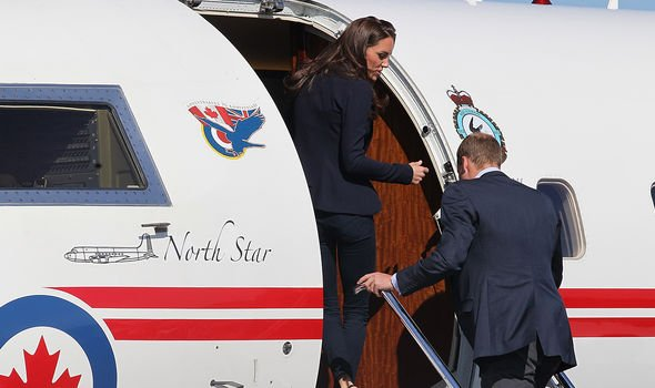 Kate and Prince William getting on a private jet Image GETTY