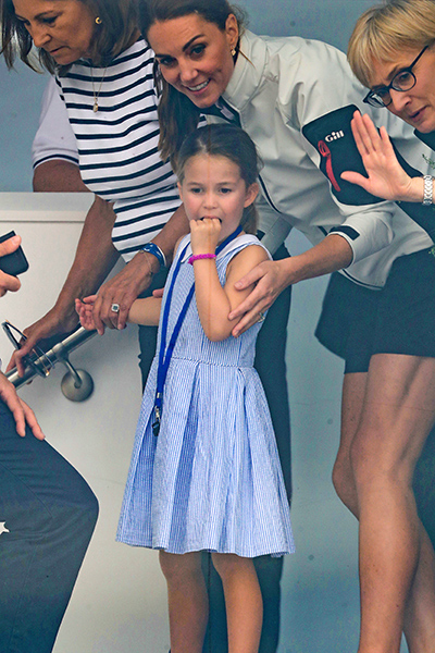 Kate and Princess Charlotte at The Kings Cup regatta Photo C GETTY IMAGES