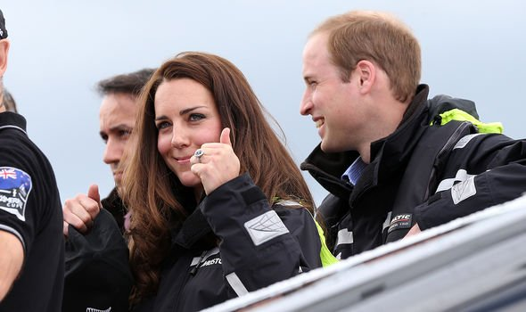 Kate and William competed against each other in a sailing regatta in Image GETTY
