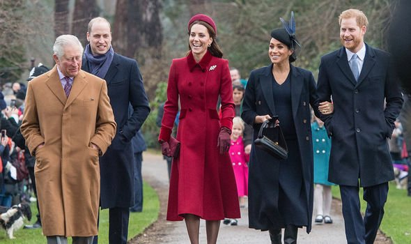 Kate and William opted for a picture taken at Christmas to celebrate Meghans birthday Image GETTY