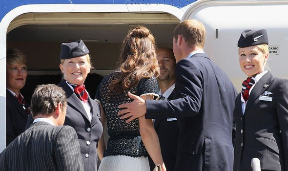 Kate and William travelled to Los Angeles with British Airways Image GETTY
