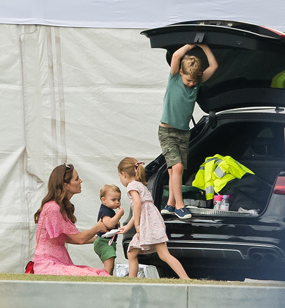 Kate enjoying a family day out at the polo earlier this summer Photo C GETTY IMAGES
