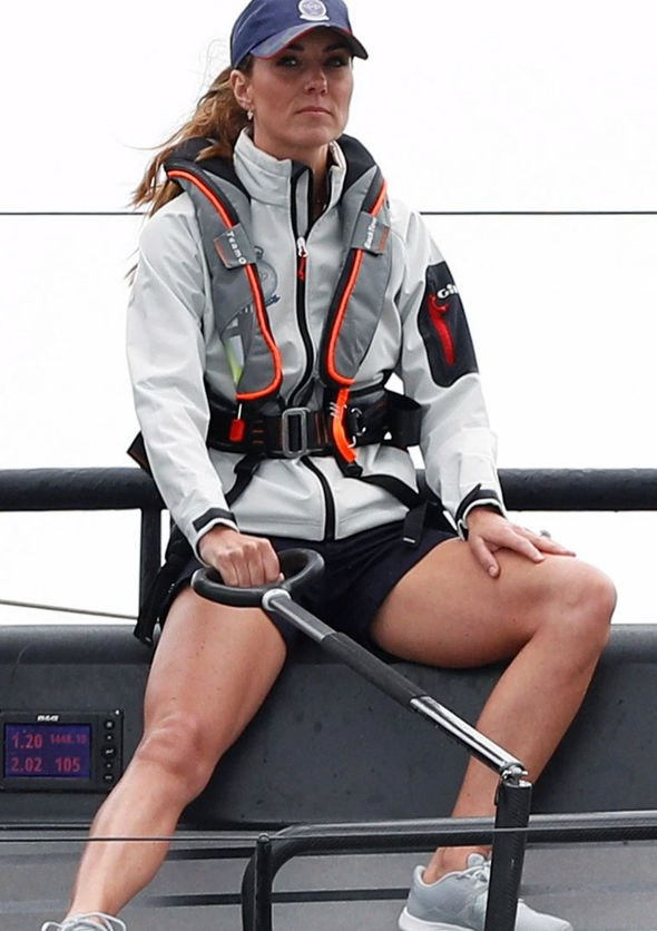 Kate had not been seen wearing shorts in public since Image PA