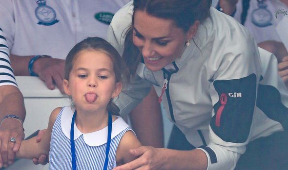 Kate loved her daughters antics Image GETTY